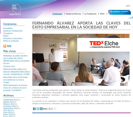 MTNG experience - TEDxElche
