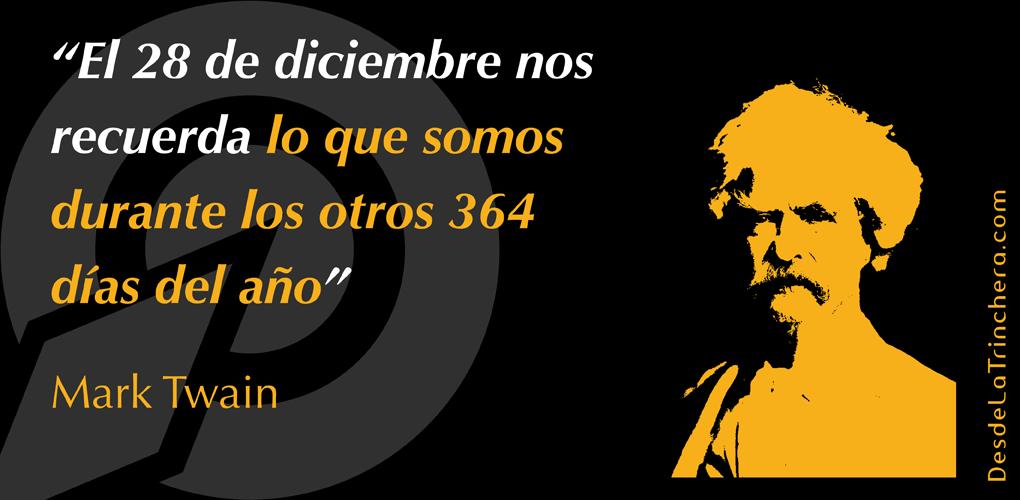 Resultado de imagen de El 28 de diciembre nos recuerda lo que somos durante los otros 364 días del año