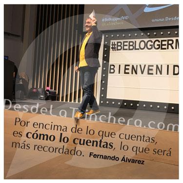 La importancia del attrezzo al hablar en público - Fernando Alvarez - Por encima de lo que cuentas es como lo_cuentas lo que sera mas recordado